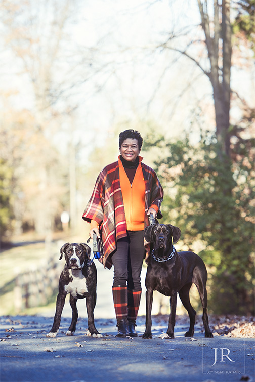 Dog owner outdoor portraits